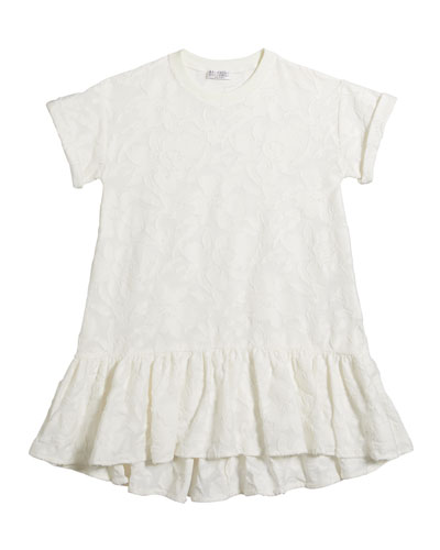 Girl's Short-Sleeve Jacquard Dress  Size 12-14 and Matching Items