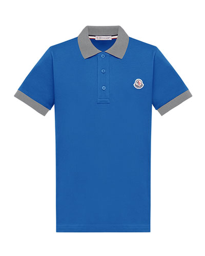 Boy's Two-Tone Piquet Polo Shirt  Size 4-6  and Matching Items
