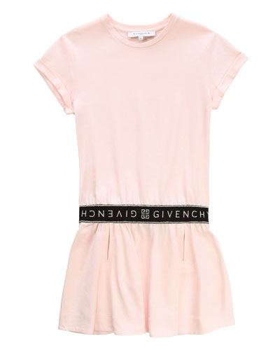 Short-Sleeve Dress with Logo Details  Size 12-14 and Matching Items