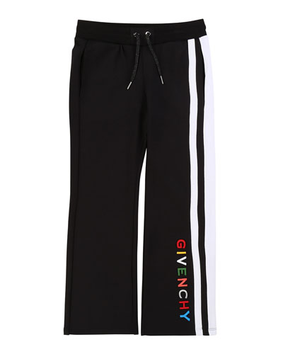 Girl's Multicolor Logo Text Side-Stripe Pants  Size 4 and Matching Items