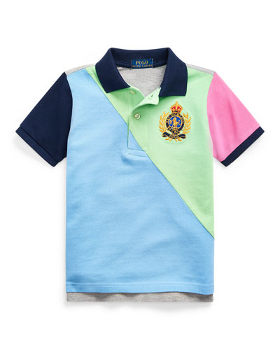Boy's Colorblock Mesh Knit Polo Shirt  Size 2-4 and Matching Items