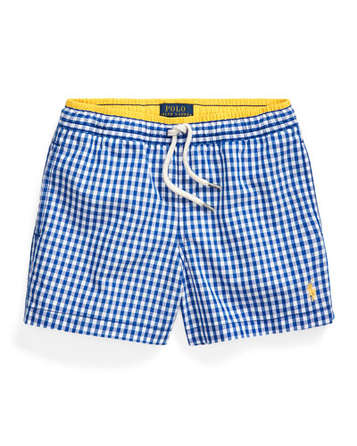 Boy's Traveler Gingham Swim Trunks  Size 2-4 and Matching Items