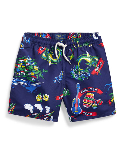 Boy's Captiva Tropical Printed Swim Trunks  Size 2-4 and Matching Items