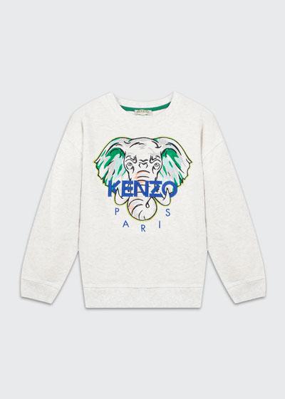 Boy's Embroidered Elephant Logo Sweatshirt  Size 2-6  and Matching Items