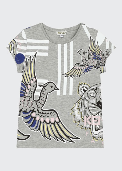 Girl's Multi Icons Graphic T-Shirt  Size 2-6  and Matching Items