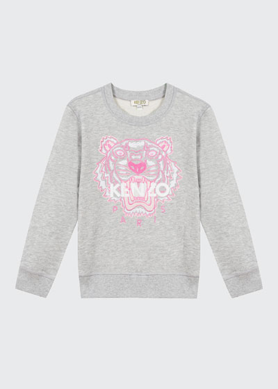 Girl's Embroidered Tiger Logo Sweatshirt  Size 2-6  and Matching Items