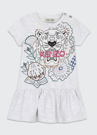 Girl's Tiger Print Short-Sleeve Dress  Size 6-18 Months  and Matching Items