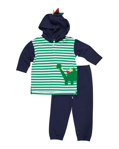 Stripe Dinosaur Hoodie w/ Joggers, Size 6-24 Months and Matching Items