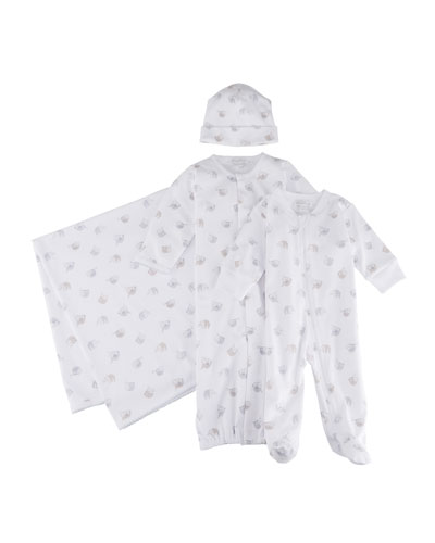 Kid's Swinging Sloth's Zip-Up Footie Pajamas, Size Newborn-9M and Matching Items
