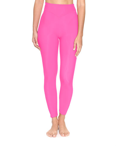 Plunge High-Waist Leggings