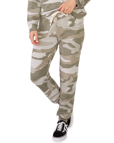 Super-Soft Oversized Camo Girlfriend Sweatpants
