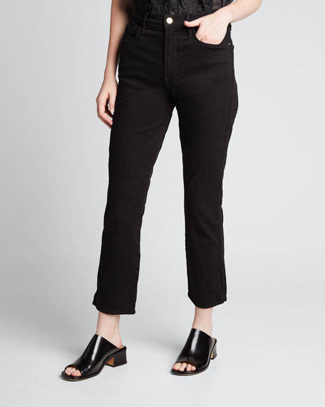 Le Sylvie Cropped High-Rise Side Slit Jeans
