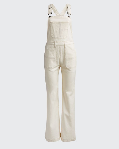 Wide-leg Denim Carpenter Jumpsuit