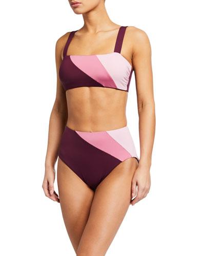 reversible bikini swim top