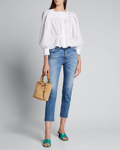 Isabelle High-Rise Straight Cropped Jeans