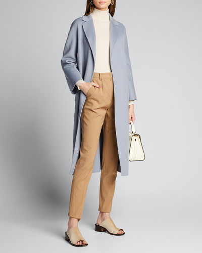 Esturia Self-Tie Virgin Wool Coat