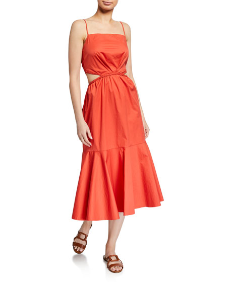 Summer Luck Sleeveless Midi Dress