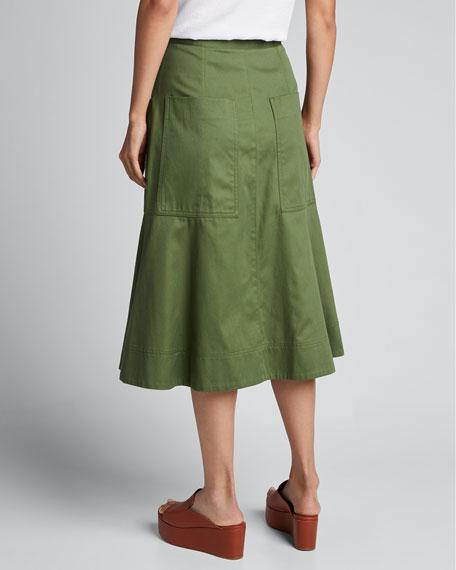 Harrison Chino Patch-Pocket  Skirt