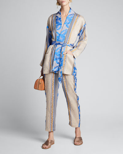 Saint Barth Jacquard Belted Jacket