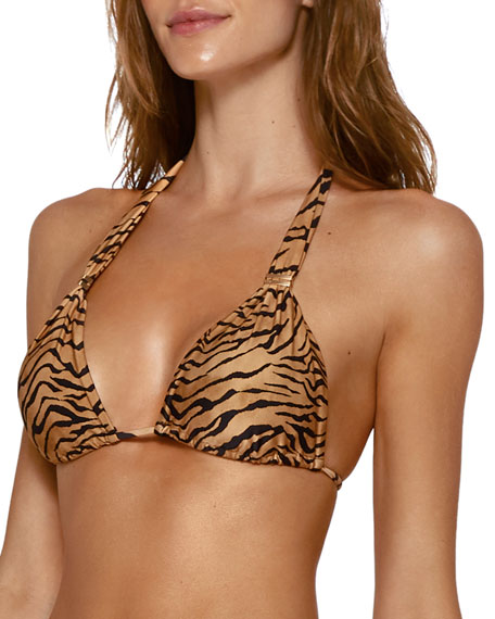 Bia Tiger Tube Triangle Bikini Top (Available in Extended Cup Size)