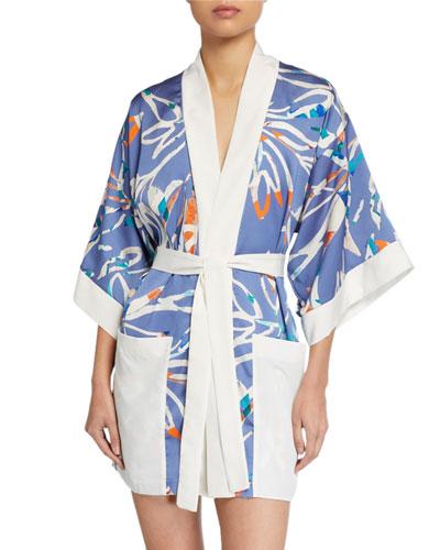 Tokyo Printed Kimono Coverup