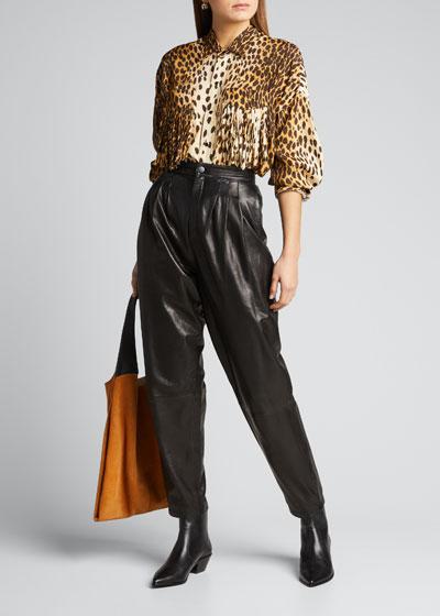 Western Fringe Cheetah-Print Shirt