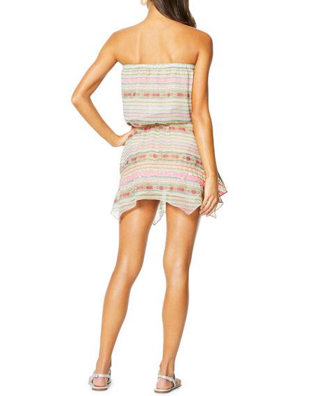 Alondra Strapless Handkerchief Coverup Dress