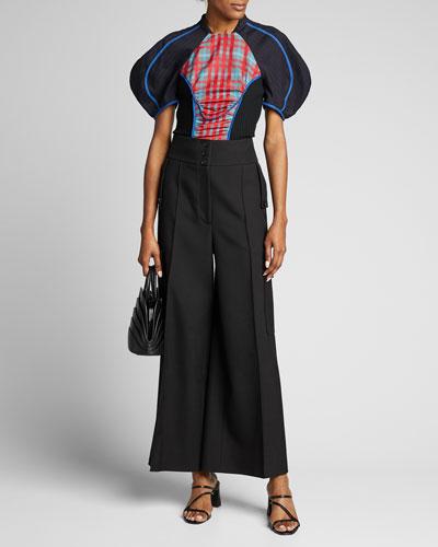 Colorblocked Woven Full-Sleeve Shirt