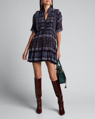 Flora Flounce-Sleeve Dress