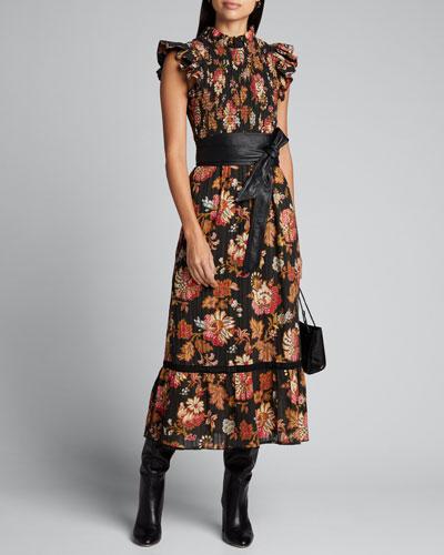 Pascale Floral Midi Dress
