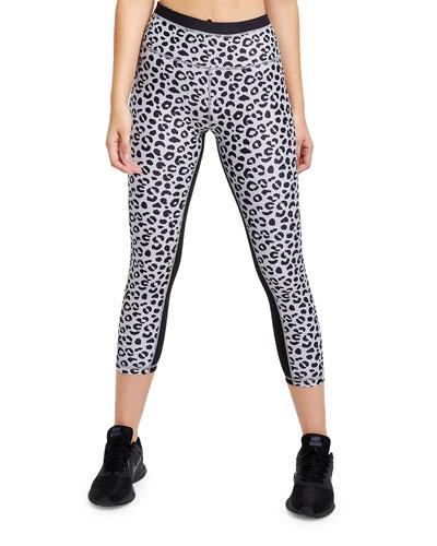 Jagger Leopard-Print Cropped Leggings
