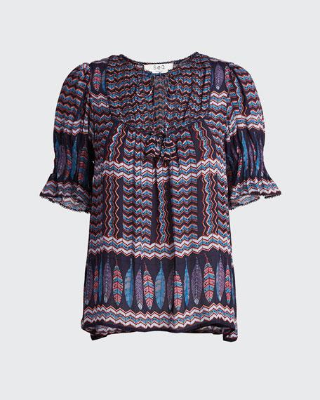 Flora Short-Sleeve Top