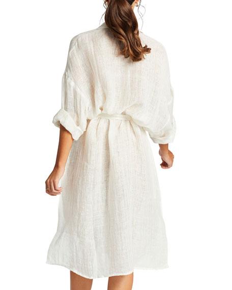 Riviera Belted Coverup Shirt Dress