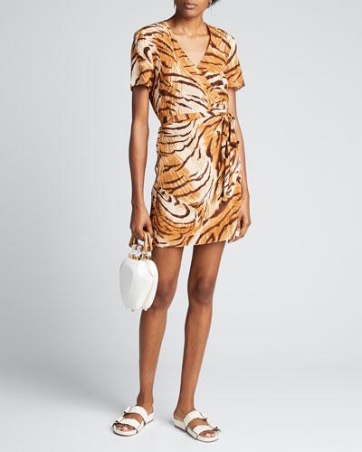 Zia Tiger-Print Wrap Dress