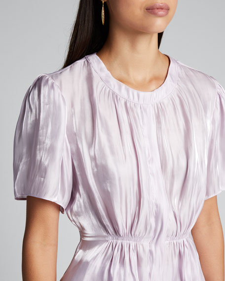 Ava Satin Short-Sleeve Top