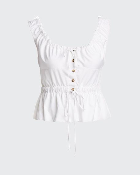 Ilaria Sleeveless Button-Front Top