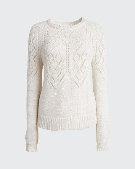 Faire Isle Pointelle Sweater