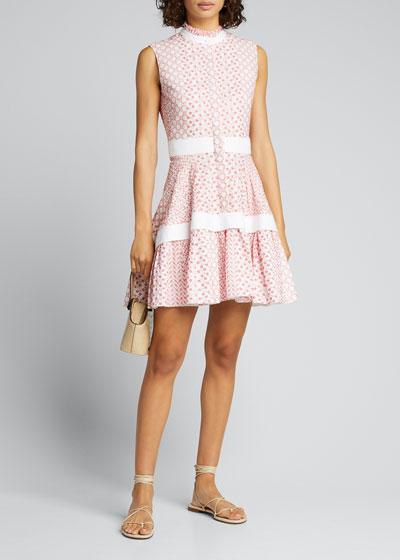 Suriya Embroidered Sleeveless Flare Dress