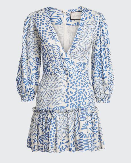 Idony Printed 3/4-Sleeve Dress