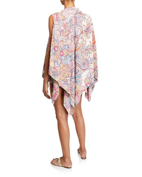 Paisley Sleeveless Handkerchief Poncho