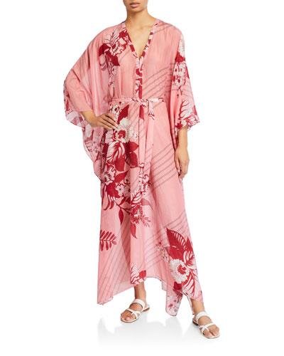 Jasmine Floral Print Cotton-Silk Dress