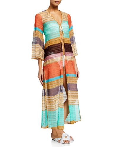 Long Chevron Kimono