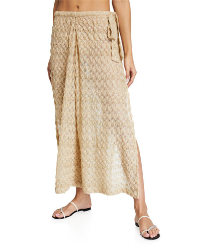 Wide-Leg Coverup Pants