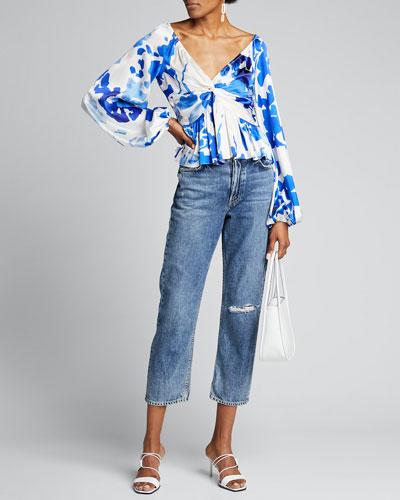 Onira Blouson-Sleeve Top