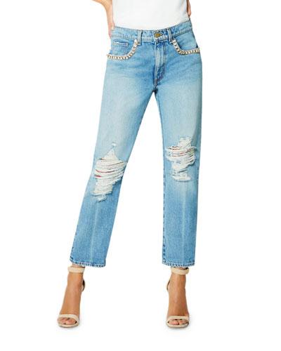 Elle Embellished Boyfriend Jeans