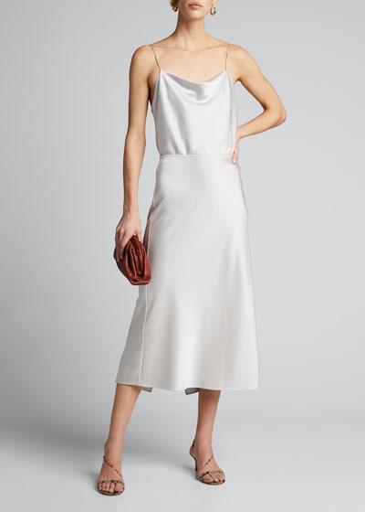 Maeve Mid-Length Slip Skirt