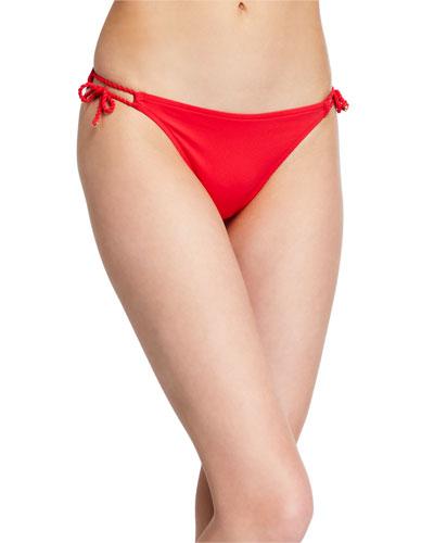 Pompons Arty Bikini Swim Bottom with Narrow sides