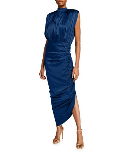Kendall Shirred Sleeveless Dress