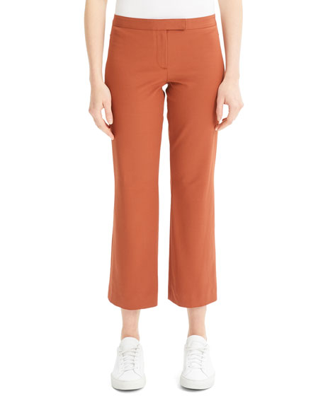 Image 1 of 1: Low-Rise Cropped Flare Pants