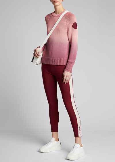 Cotton Long-Sleeve Ombre Sweater